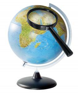 Světové strany se shodují se směrem poledníků a rovnoběžek.